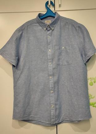 Next льняная рубашка, лён, размер l