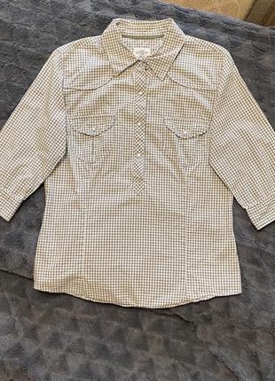 Женская серая рубашка в клетку h&m