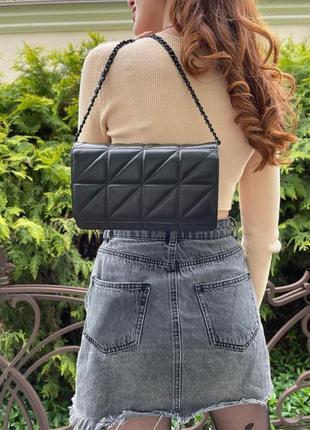 Женская кожаная сумка magic bag  черная