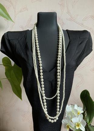 Ожерелье жемчужное длинное