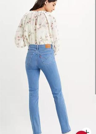 Брендовые красивые качественные джинсы levi's модель 724 high rise straight оригинал