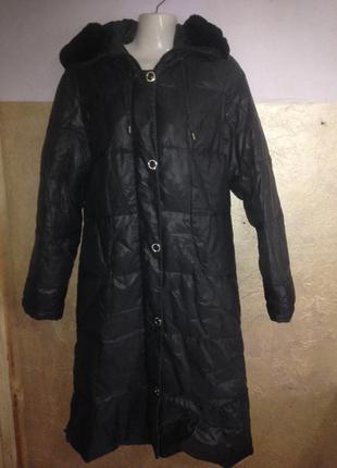 Теплющее пуховое пальто пуховик от ирландского бренда eternal beauty