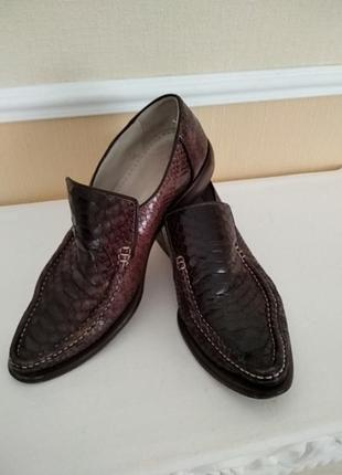 Мужские кожаные туфли ручной работы