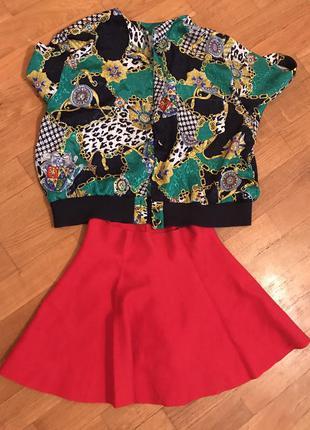 Тёплая юбка от bershka . размер s-m