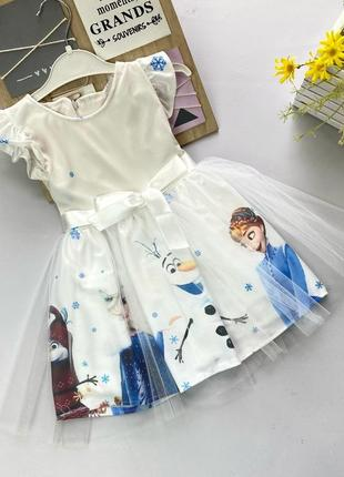 Нарядное платье эльза frozen