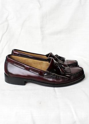 Туфли лоферы кожа ravel италия бордовые