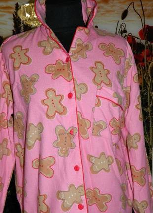 Кофта пижамная розовая с печеньками р. 44-46 dunnes sleeo