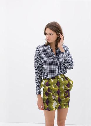 Шикарная блуза рубашка zara trafaluc