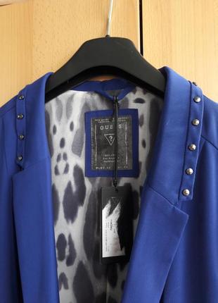Новый, нереально  красивый синий пиджак guess р.44(s)-46(m)