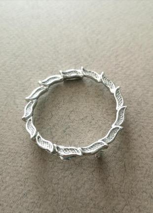 Винтажная лаконичная брошь брошка круг окружность кольцо американский винтаж
