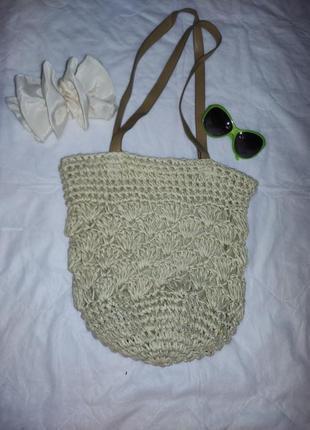 Соломенная сумка торба
