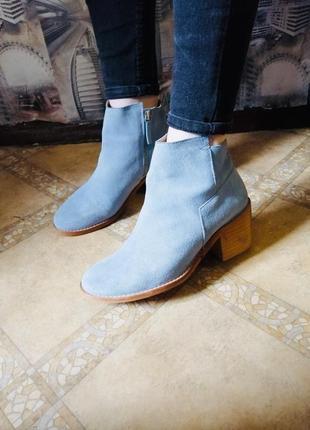 Ботинки zara голубого цвета