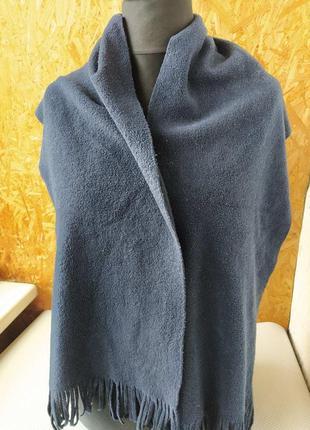 Флисовый темно-синий шарф
