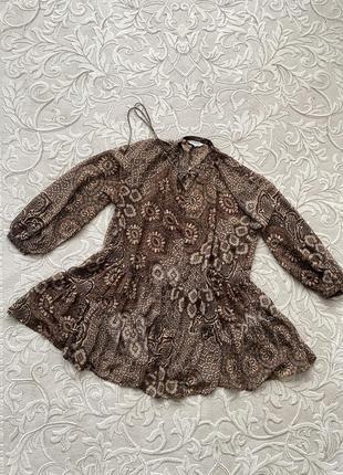 Воздушное легкое платье туника h&m