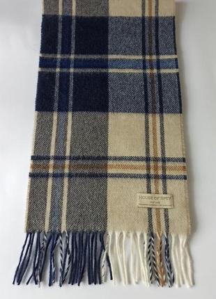 Качественный шарф 100% меринос от house of spey