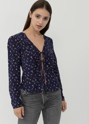 &other stories шёлковая рубашка блуза цветочный принт шёлк 100%