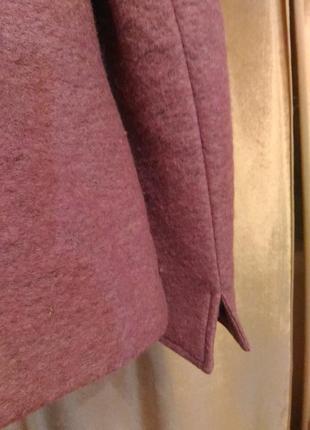 Тёплый сиренево-розовый пиджак, шерсть размер l-xl9 фото