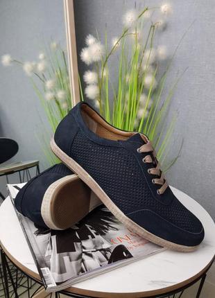 Летние туфли мужские из натурального нубука