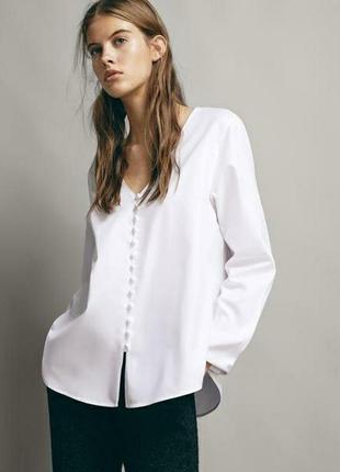Белая рубашка massimo dutti р.40 оригинал