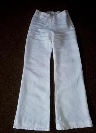 Брюки,брюки широкие,брюки белые,широкие белые штаны,штаны белые,штаны летние,штаны лён