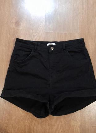 Джжинсовые шорты с завышенной талией
