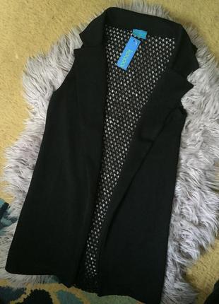 Пиджак жакет жилет жилетка удлененый трендовый без рукавов