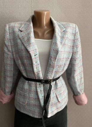 Пиджак в стиле шанель твид