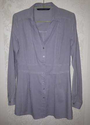 Серая длинная рубашка (блуза) top secret (38)