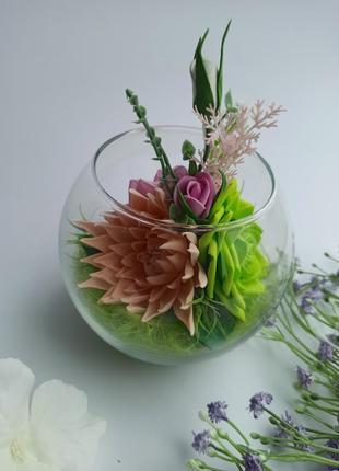 Декор у скляній вазі ручної роботи