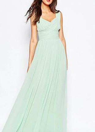 Шикарное мятное платье yaly couture размер xs