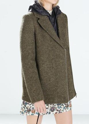 Стильное пальто zara пальто бойфренд шерстяное пальто
