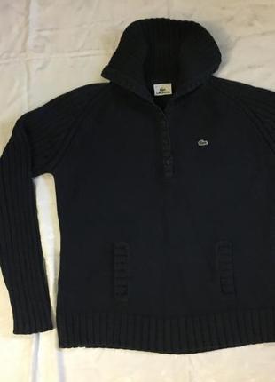 Джемпер с карманами «кенгуру» фирмы lacoste