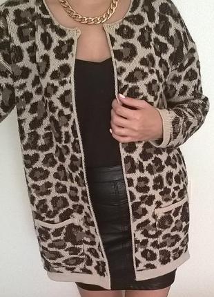 Теплый кардиган-пальто