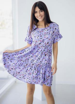 Платье сарафан с цветами цветочный принт цветочками