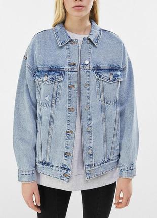 Джинсова куртка bershka, джинсовка, джинсовий піджак