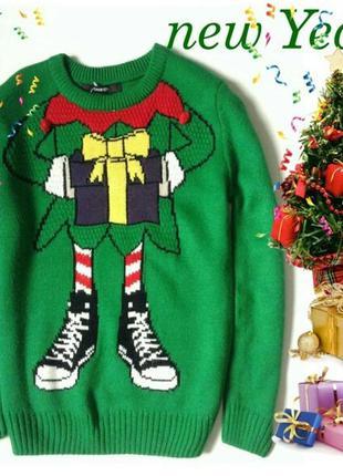 Новогодний свитерок george 7-8 лет 122-128 рост
