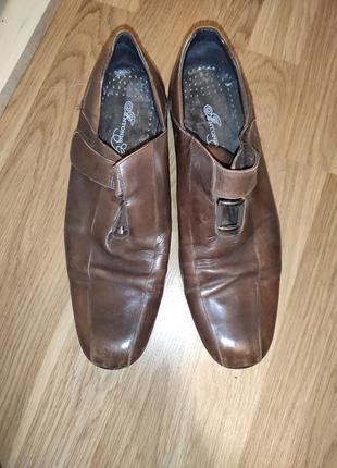 Туфли коричневые кожаные 40 размер мужские