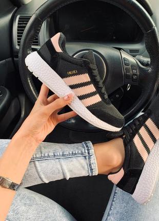 Adidas iniki black🆕дышащие женские летние кроссовки🆕черные замшевые адидас иники