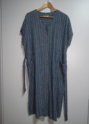 Стильное платье рубашка с карманами большого размера zara h&m george