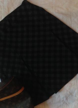 Модная юбка в клетку миди