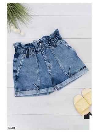 Женские синие джинсовые шорты жіночі сині джинсові шорти летние літні модные стильные