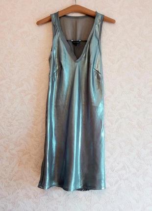 Серебряное платье french connection