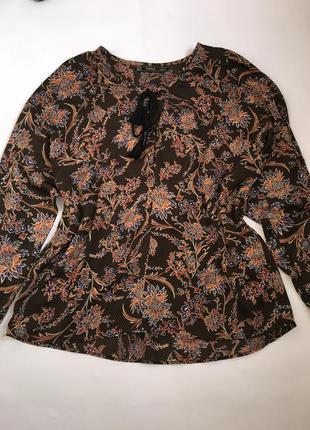 Блуза с принтом с кисточками zara