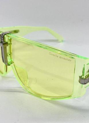 Солнцезащитные очки-маска, жёлтые