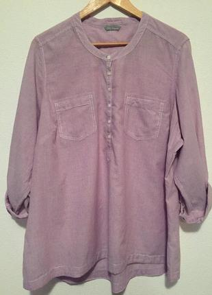 Блуза на планке 100% коттон пог 69 см