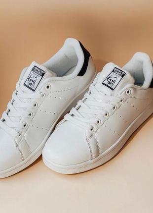 Adidas stan smith кроссовки, кеды, белые с синим