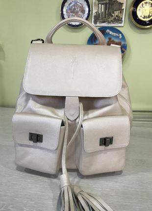 Дизайнерская сумка-рюкзак из итальянской кожи