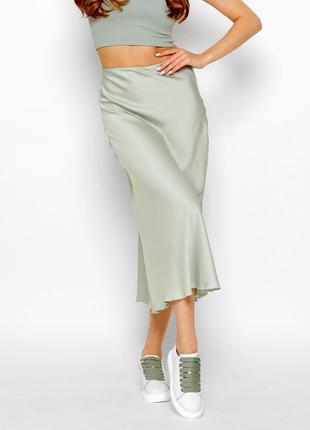 Шелковая юбка-миди