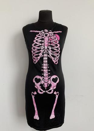 Скелет костюм карнавальный платье
