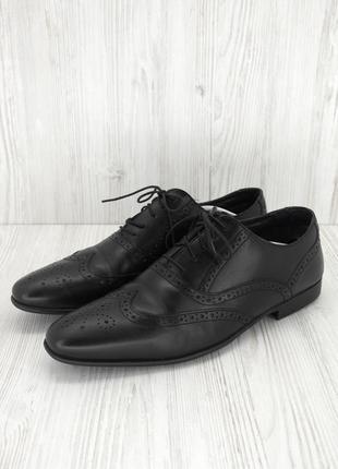 """Стильные фирменные классические кожаные туфли броги """"next"""". размер uk10/ eur44."""